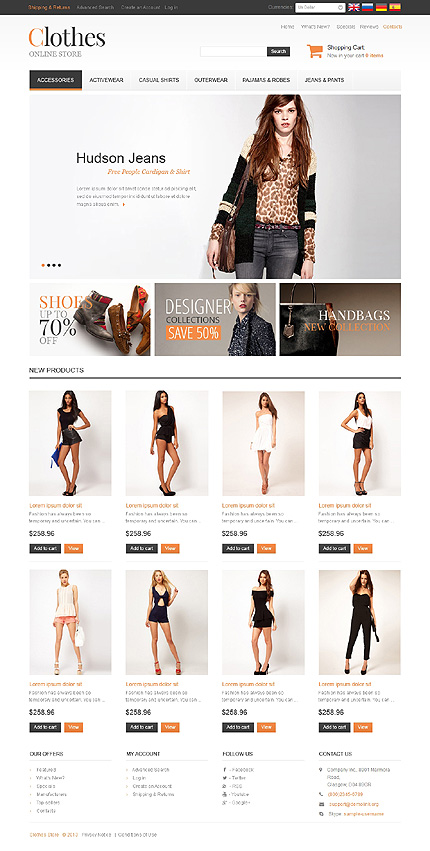 osCommerce Template 47298 Main Page Screenshot