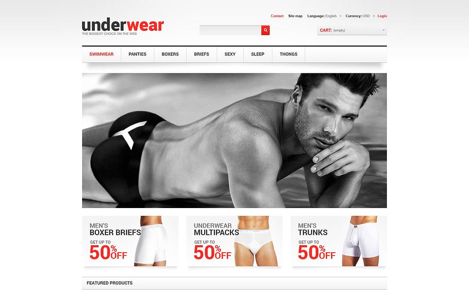Responzivní PrestaShop motiv na téma Pánské spodní prádlo New Screenshots BIG