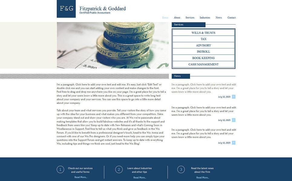 accounting website wix website template 47294. Black Bedroom Furniture Sets. Home Design Ideas