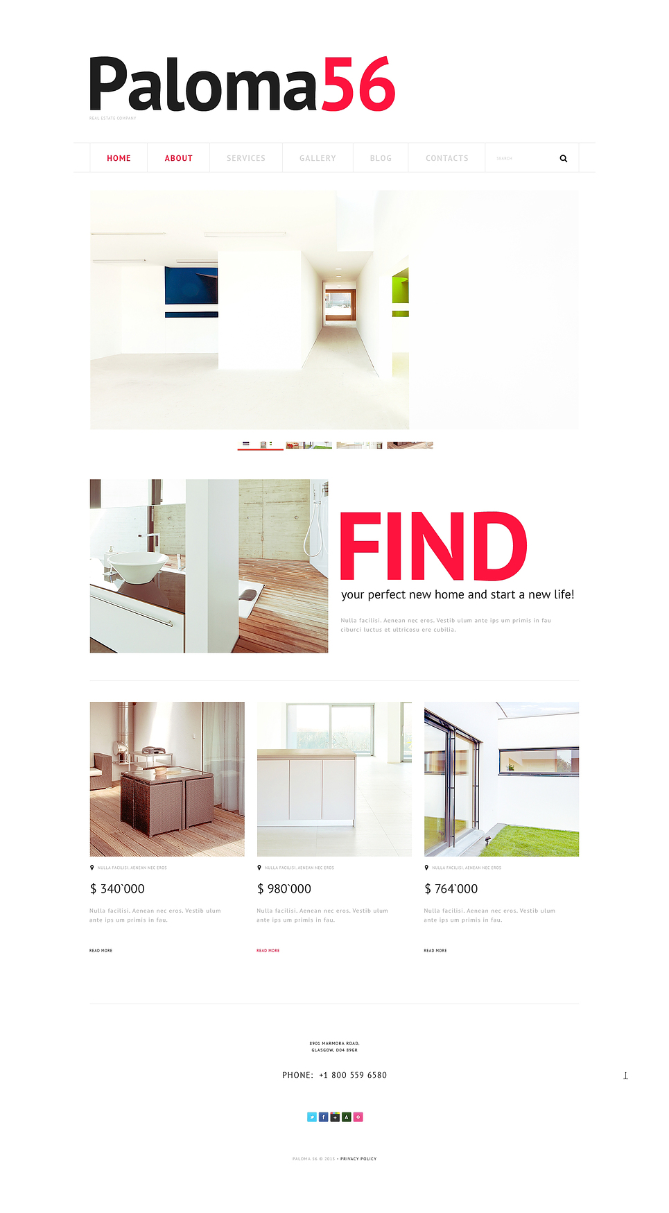 Адаптивный шаблон сайта на тему агентство недвижимости #47228