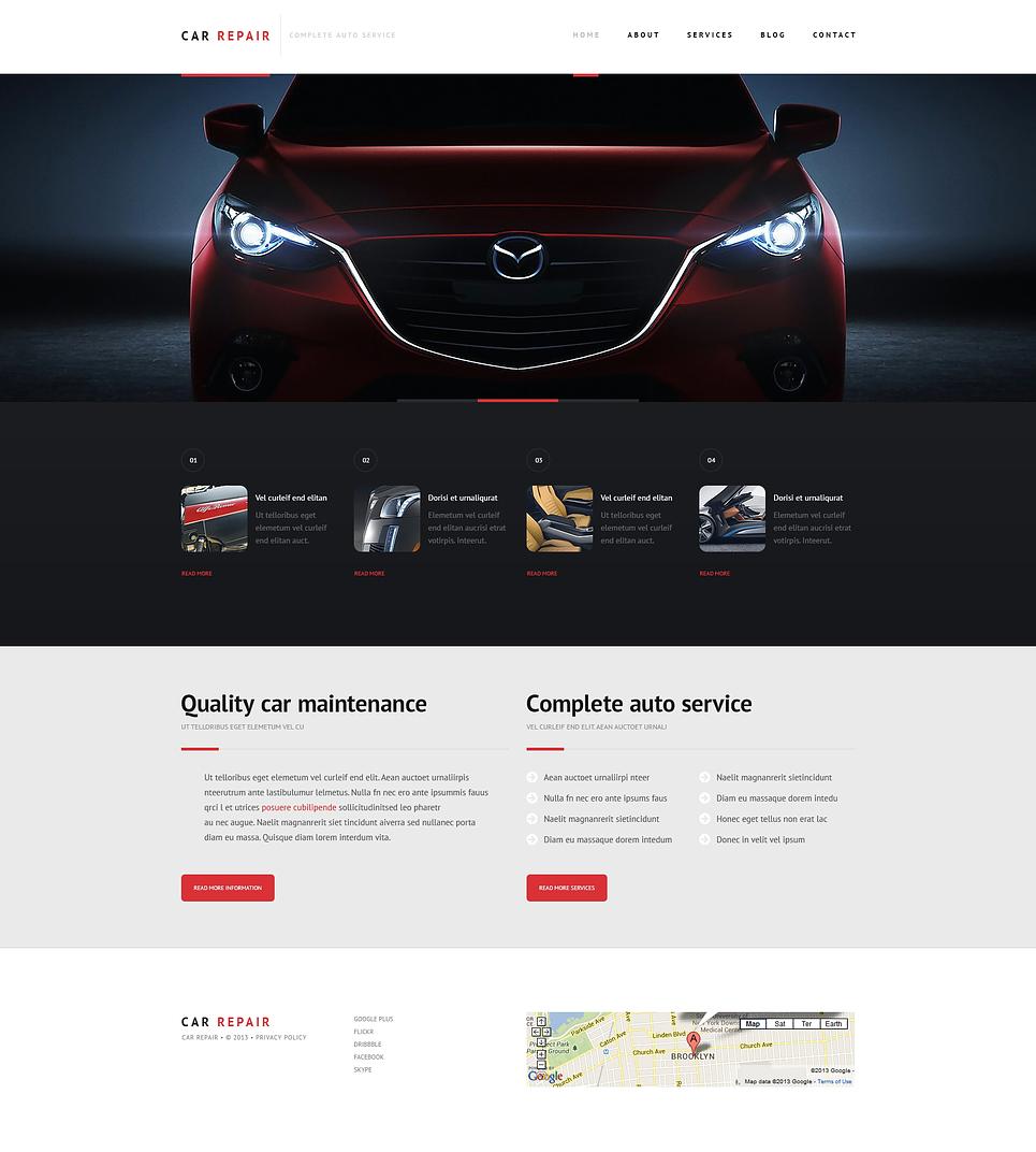 Адаптивный шаблон сайта на тему ремонт авто #47234