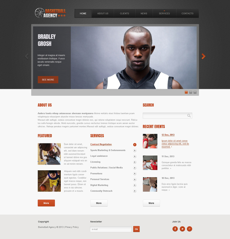 Basketball Responsive Website Template New Screenshots BIG
