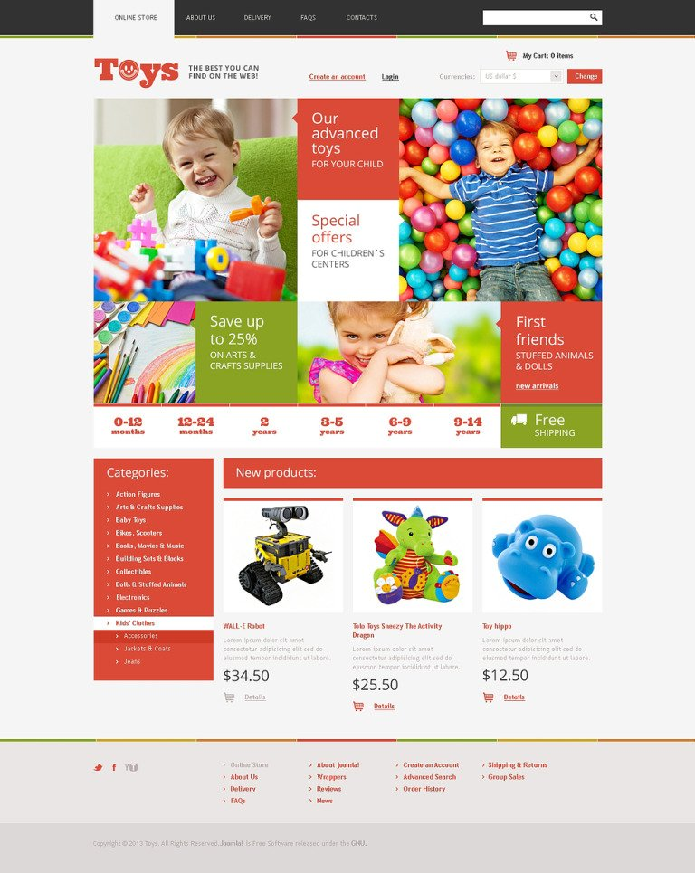 Best Toys on the Web VirtueMart Template New Screenshots BIG