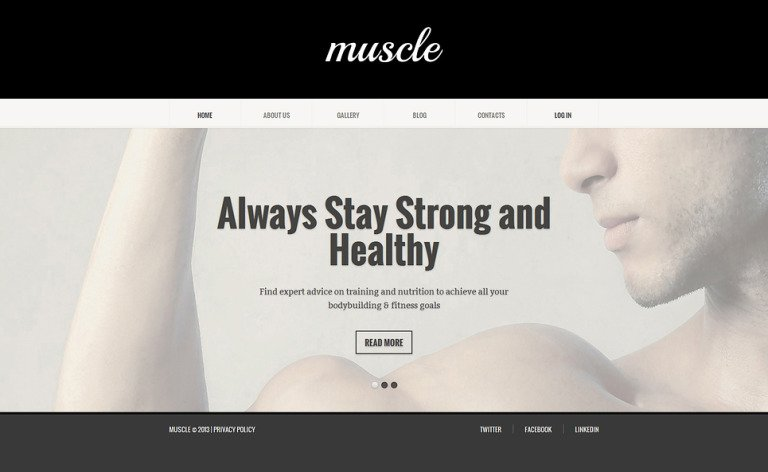 Bodybuilding Responsive Joomla Template New Screenshots BIG