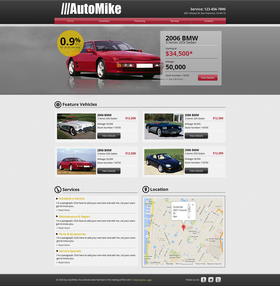 Rent Websites: Car Rental Wix Website Template #47293