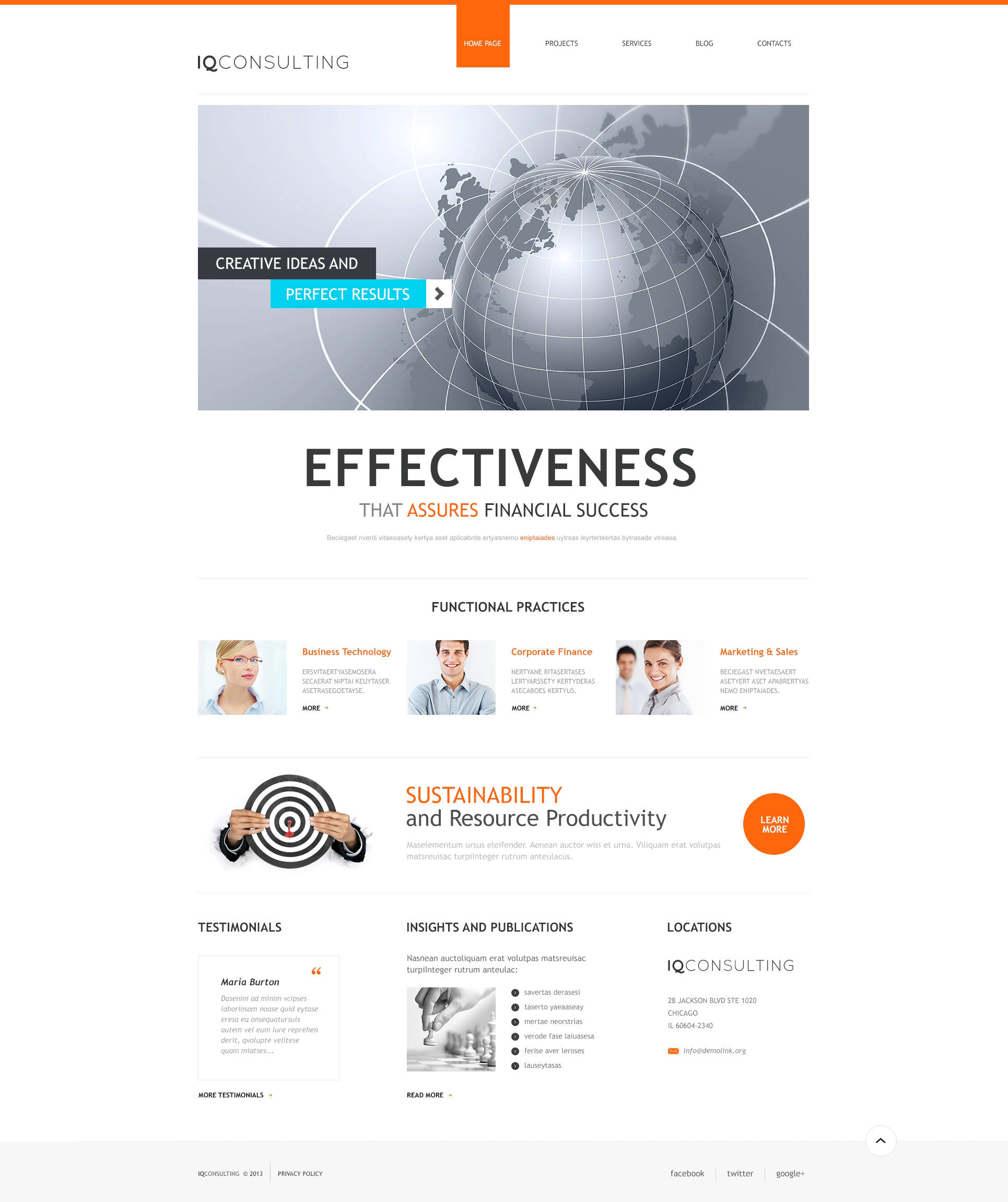 Consulting for Simplicity WordPress Theme - screenshot