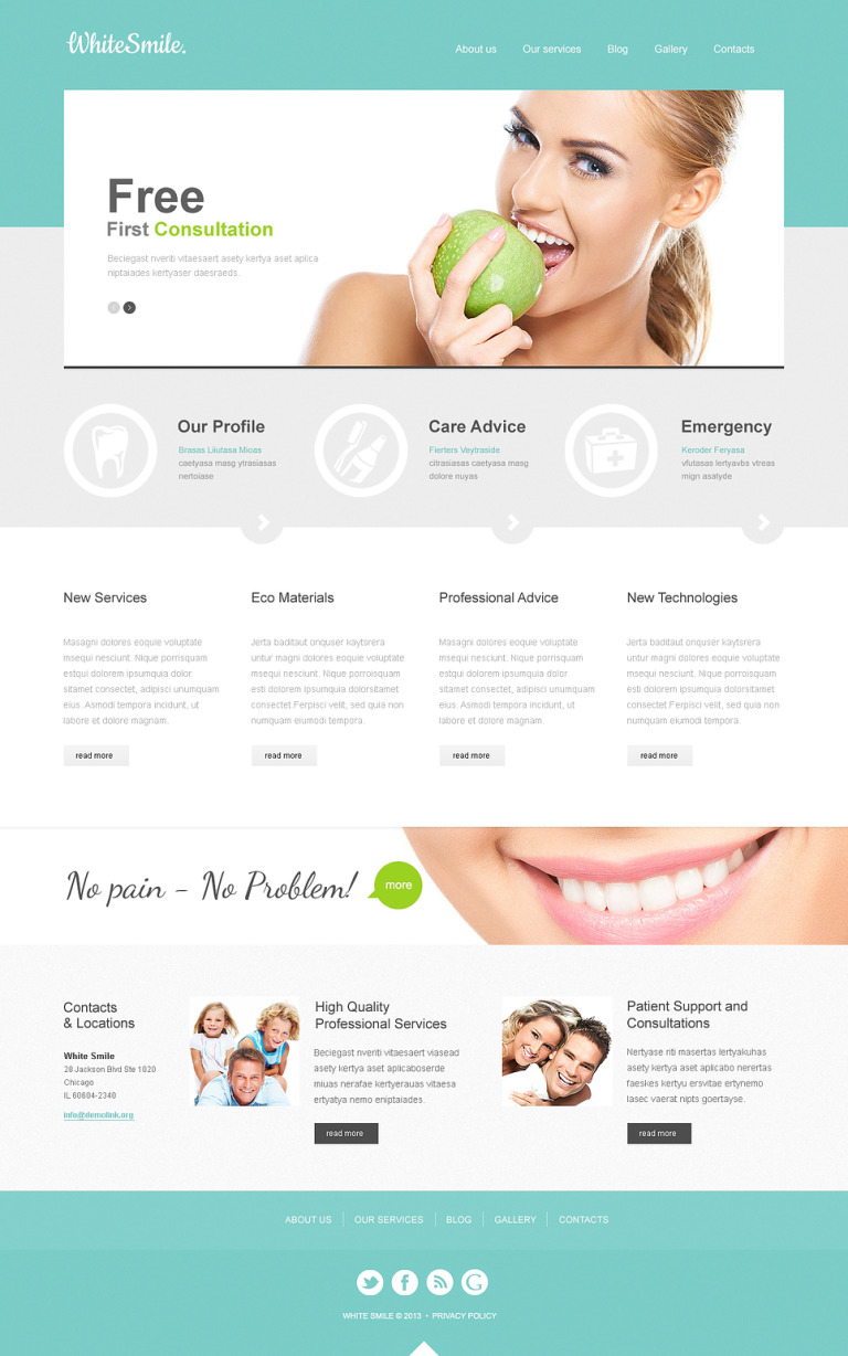 Dentistry Responsive Joomla Template New Screenshots BIG