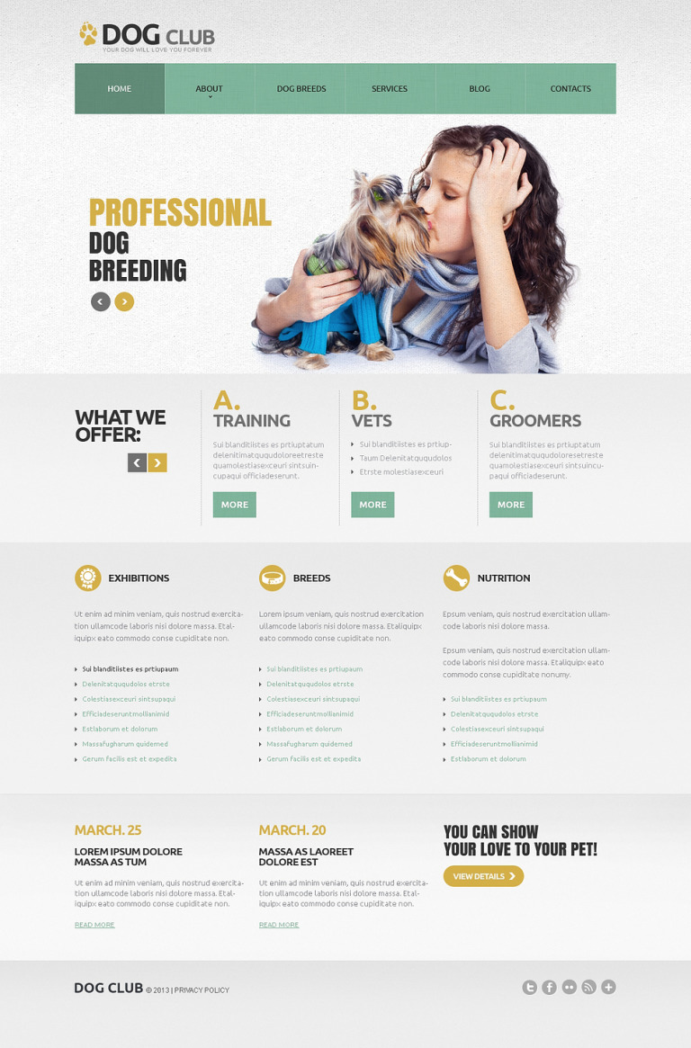 Dog Responsive Joomla Template New Screenshots BIG