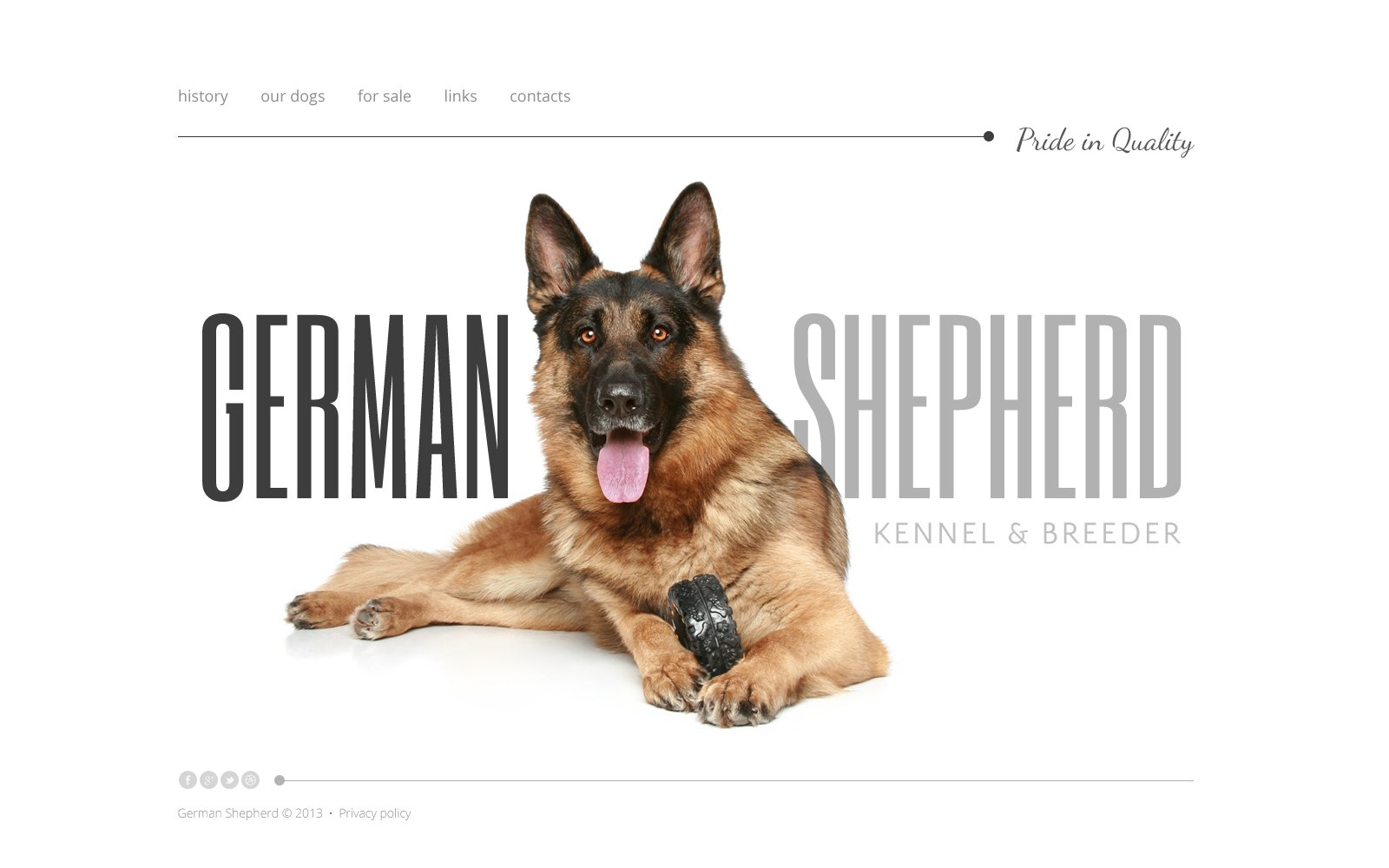 Dog Website Template #47272