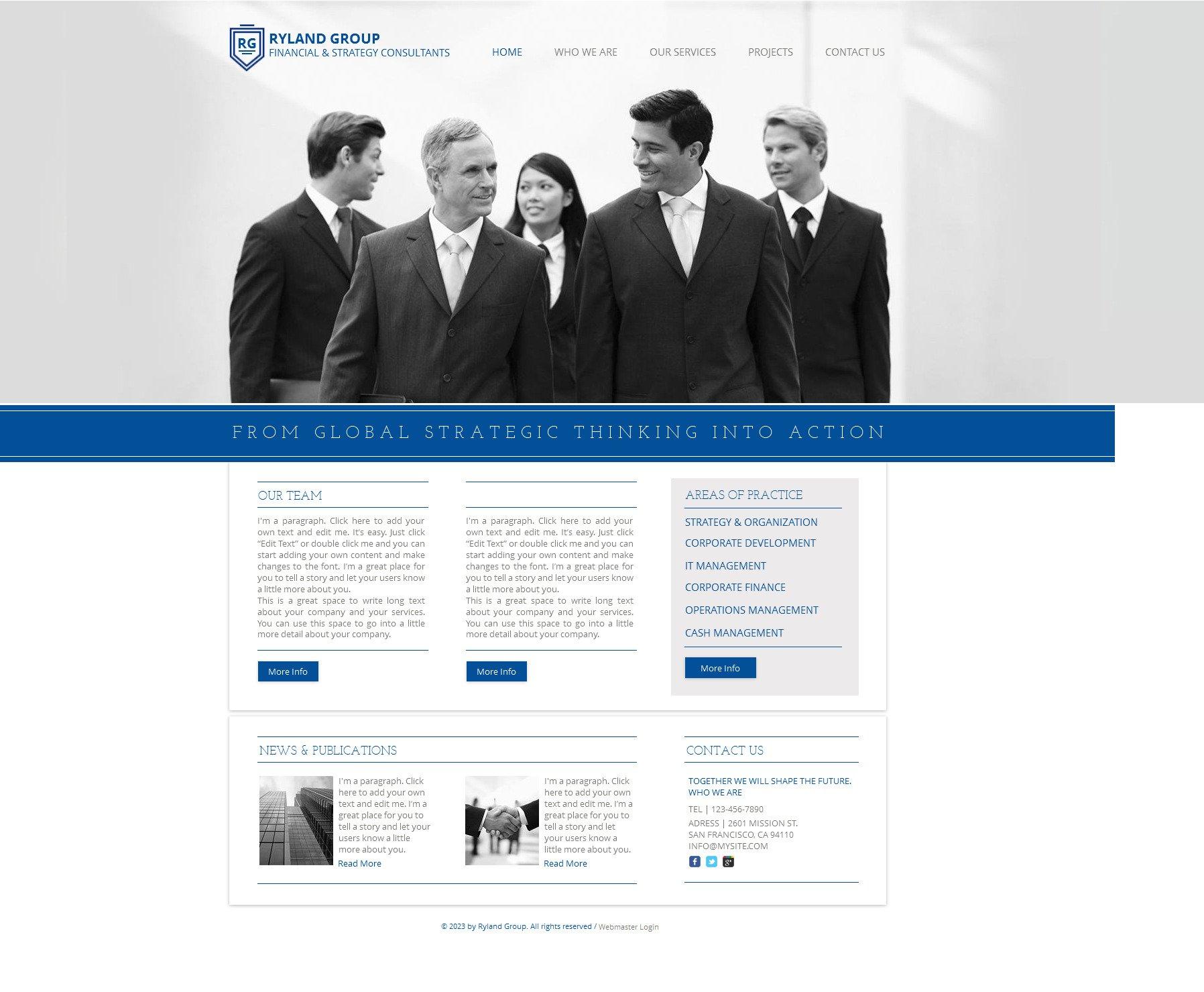 Financial Advisor Wix Website Template #47291