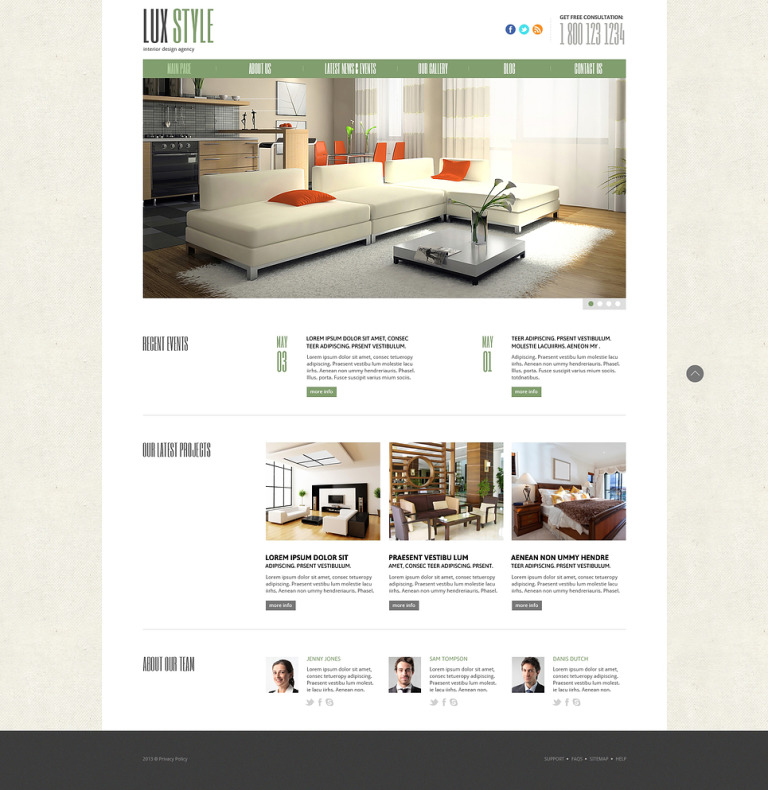 Interior Design Responsive Joomla Template New Screenshots BIG