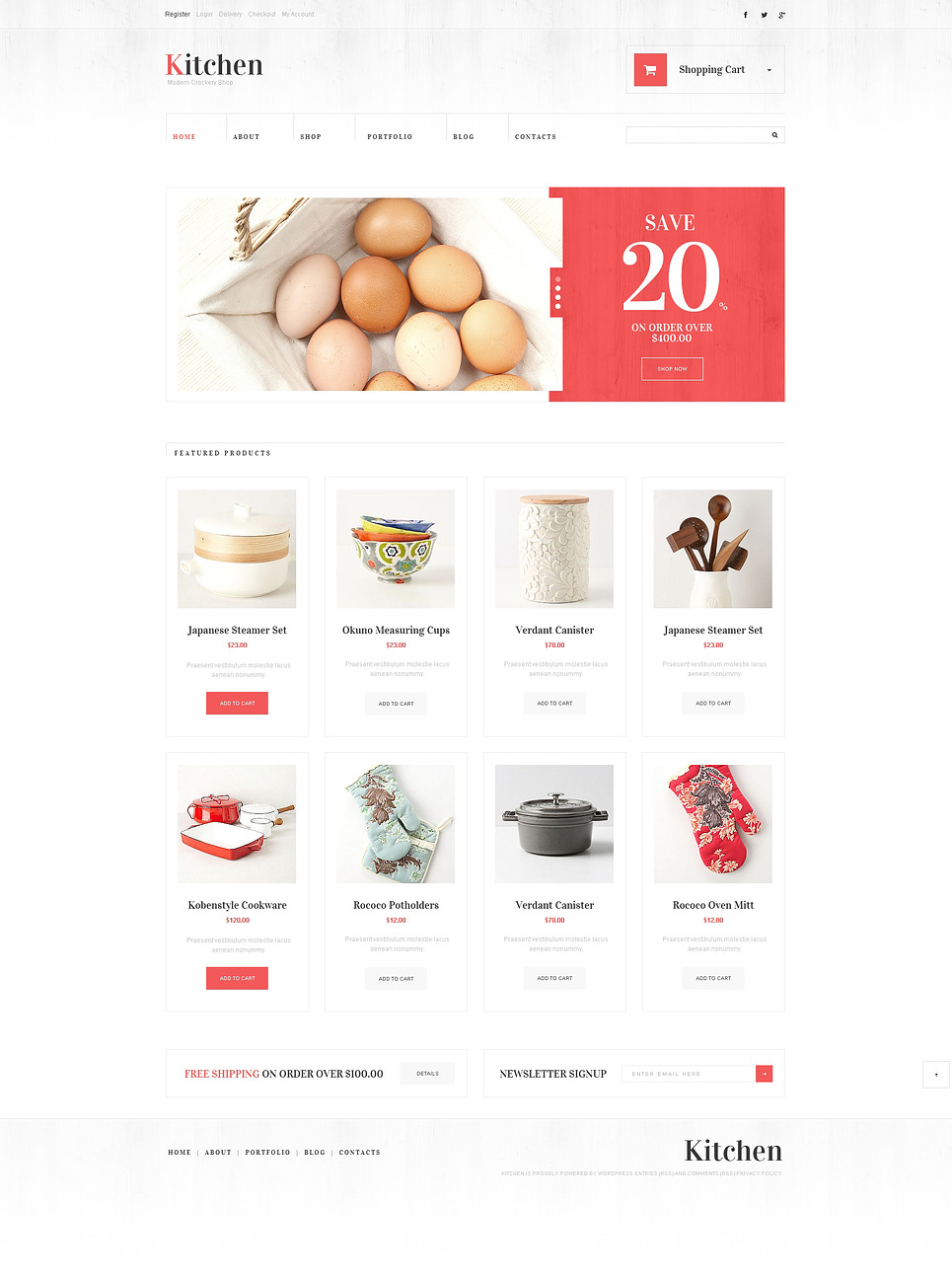 Kitchen Utensils WooCommerce Theme New Screenshots BIG