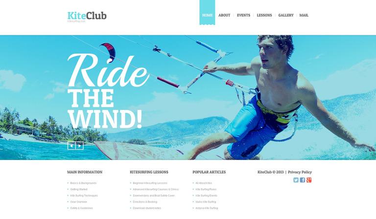 Kitesurfing Website Template New Screenshots BIG
