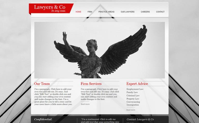 Law Firm Wix Website Template New Screenshots