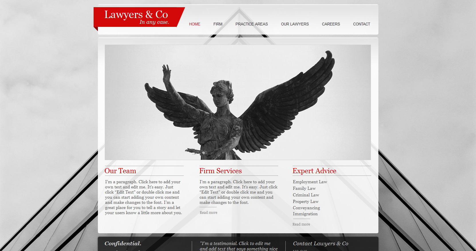 Law Firm Wix Website Template #47286