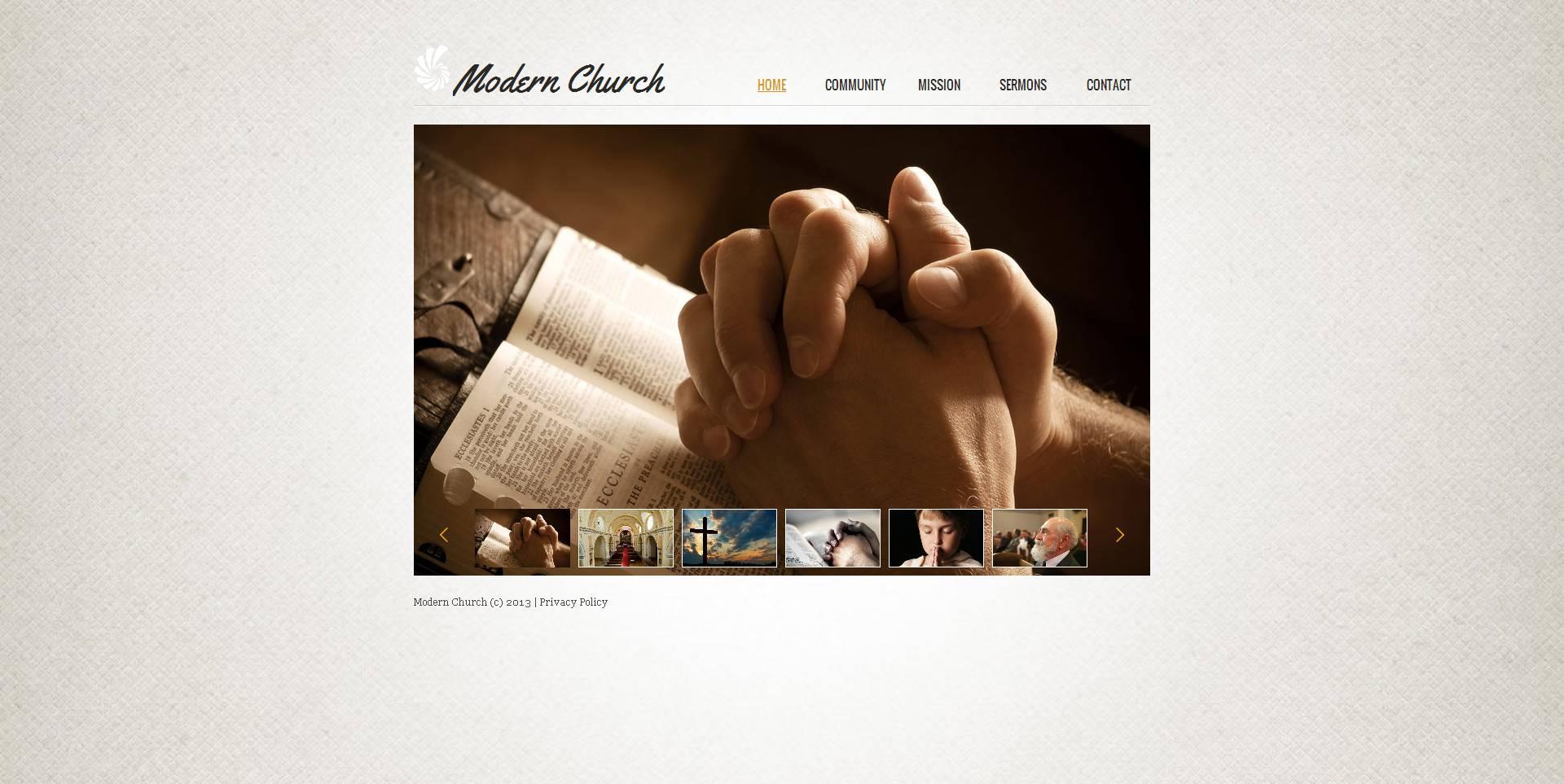 Luxusní Moto CMS HTML šablona na téma Křesťanství #47200