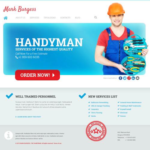 Mark Burgess - WordPress Template based on Bootstrap