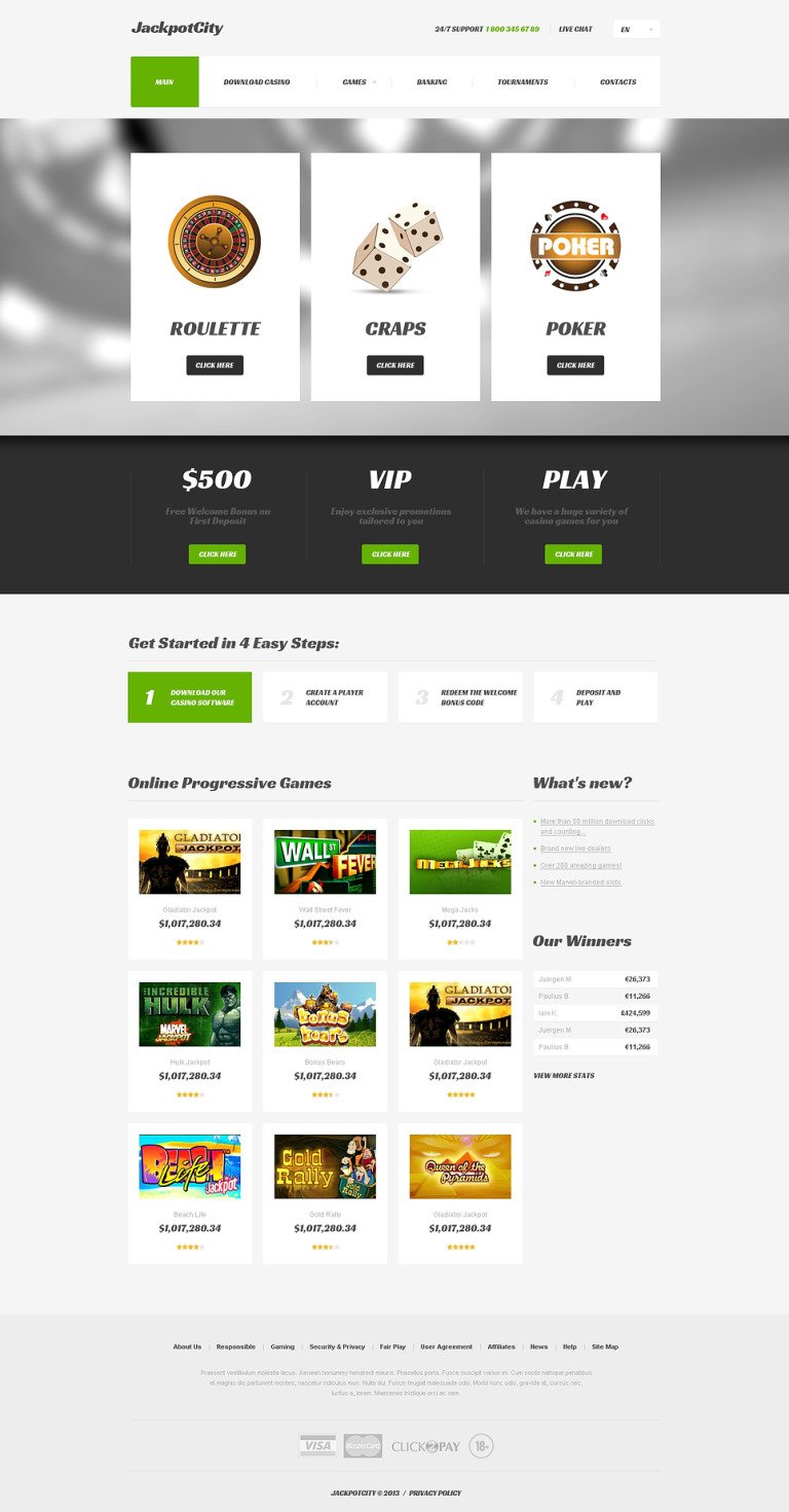 Online Casino Responsive Website Template New Screenshots BIG