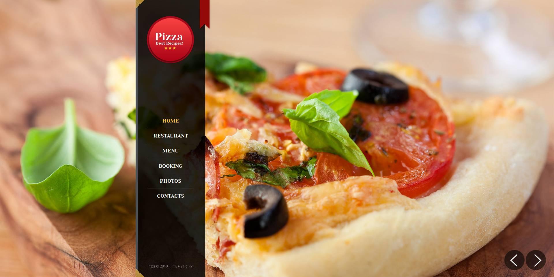 Pizza Moto CMS HTML Template