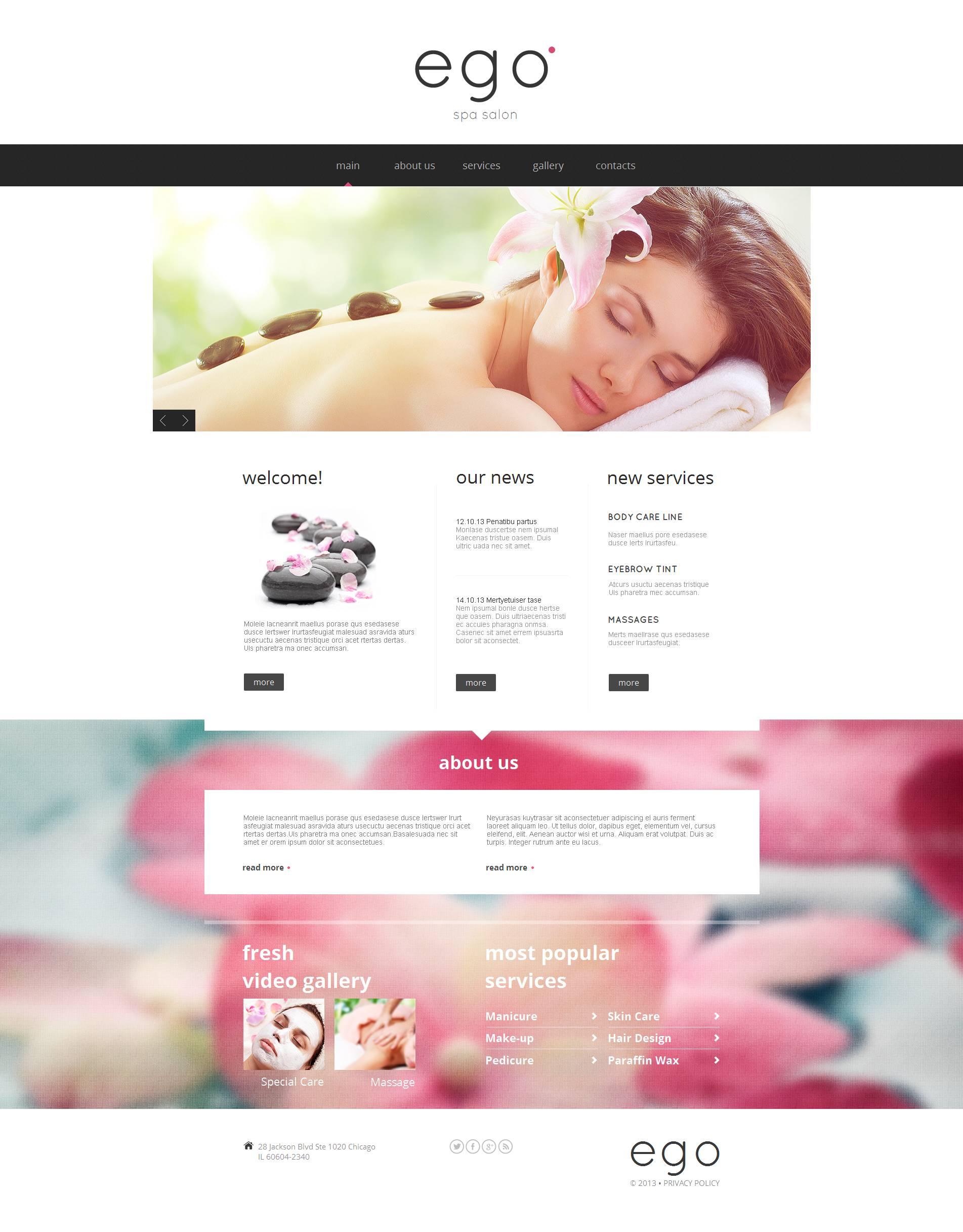 Plantilla Moto CMS HTML #53054 para Sitio de Salones de belleza
