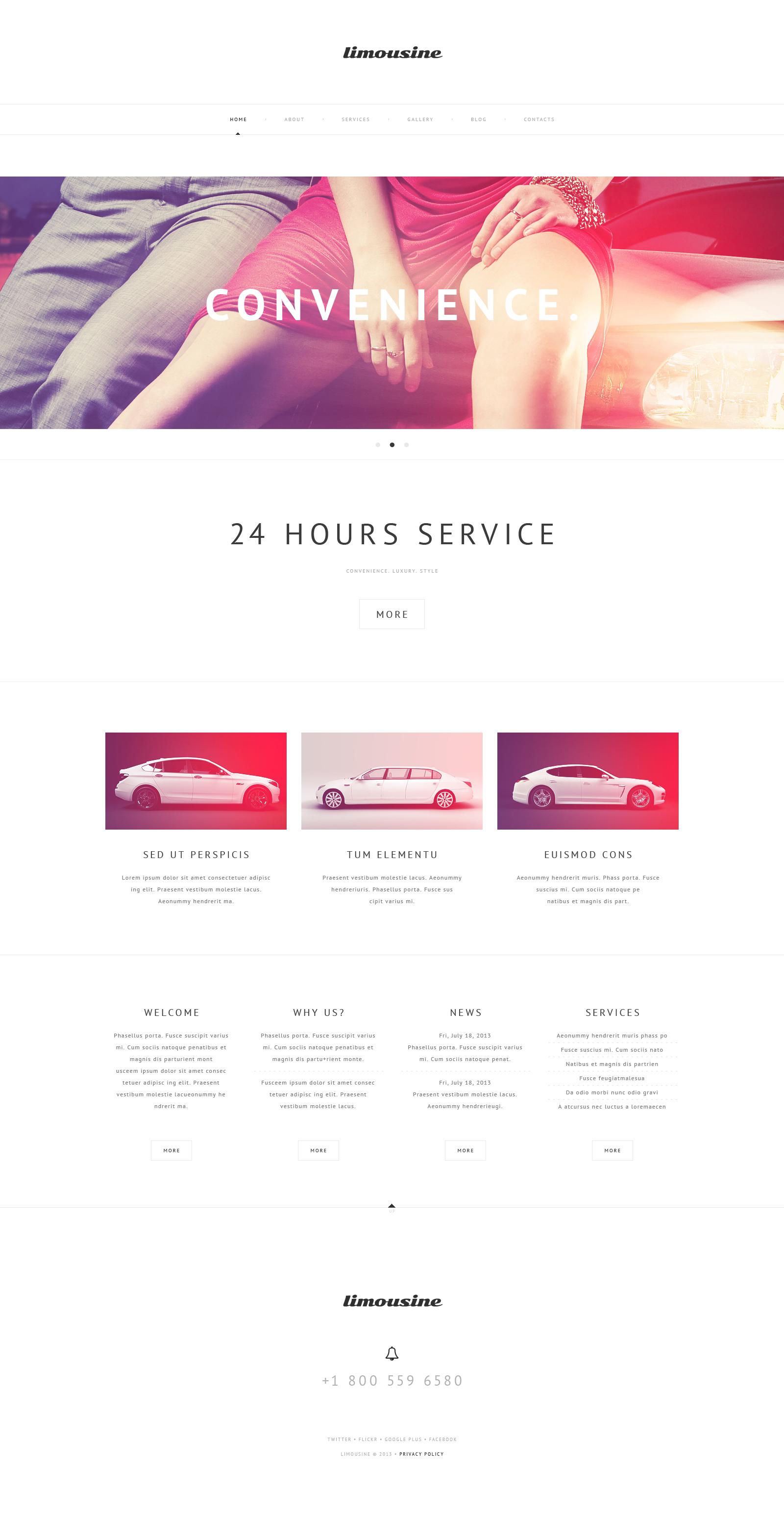 Responsive Luxury Limousine Services Wordpress #47232 - Ekran resmi