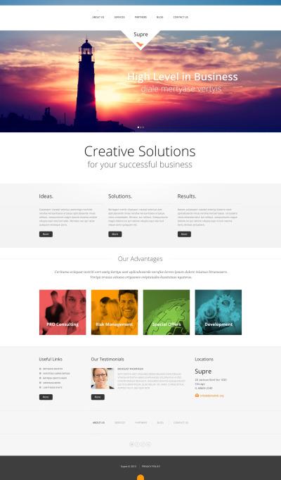 Responsives WordPress Theme für Marketing-Agentur
