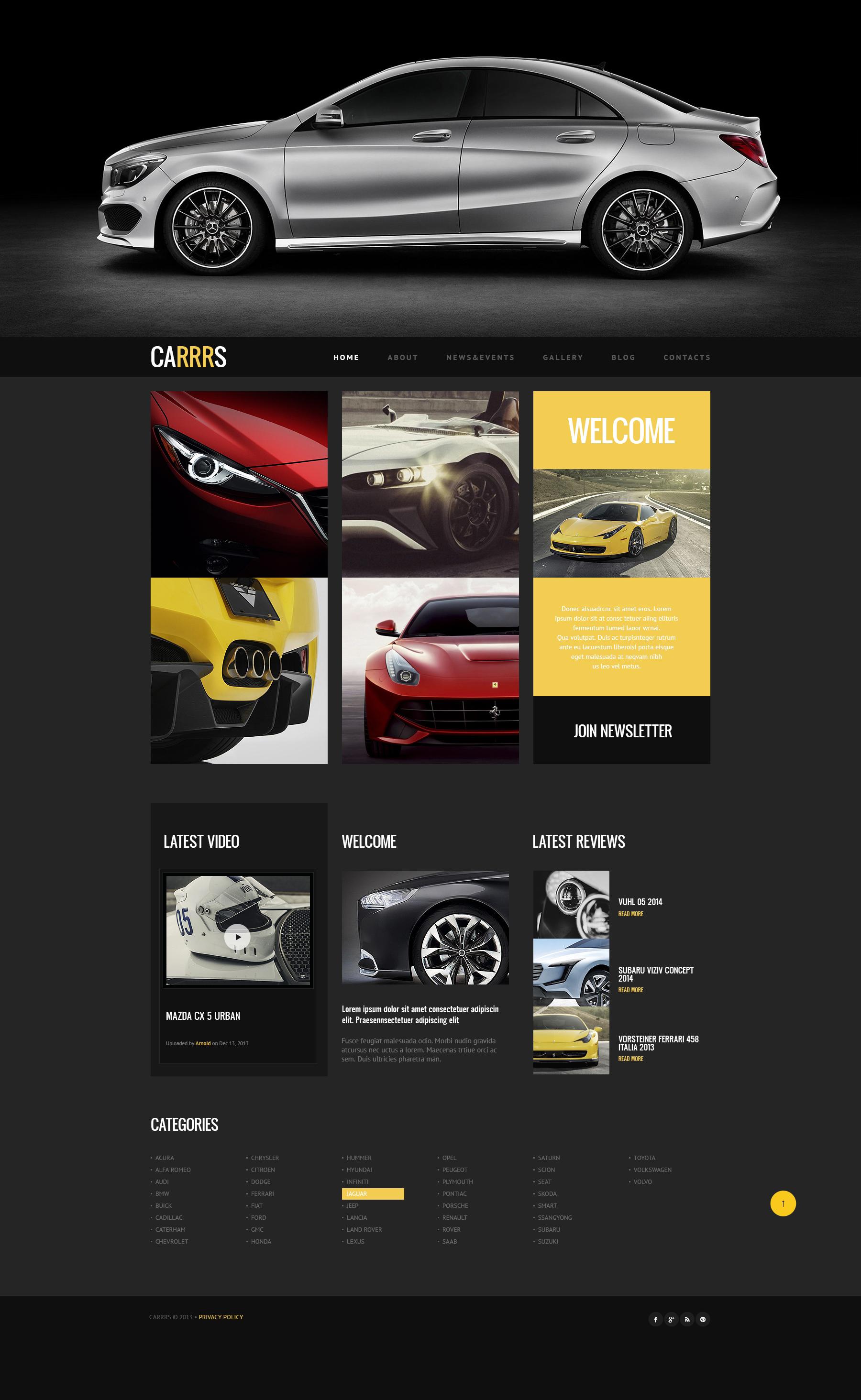 Responsywny motyw WordPress Car for Proper Deal #47226