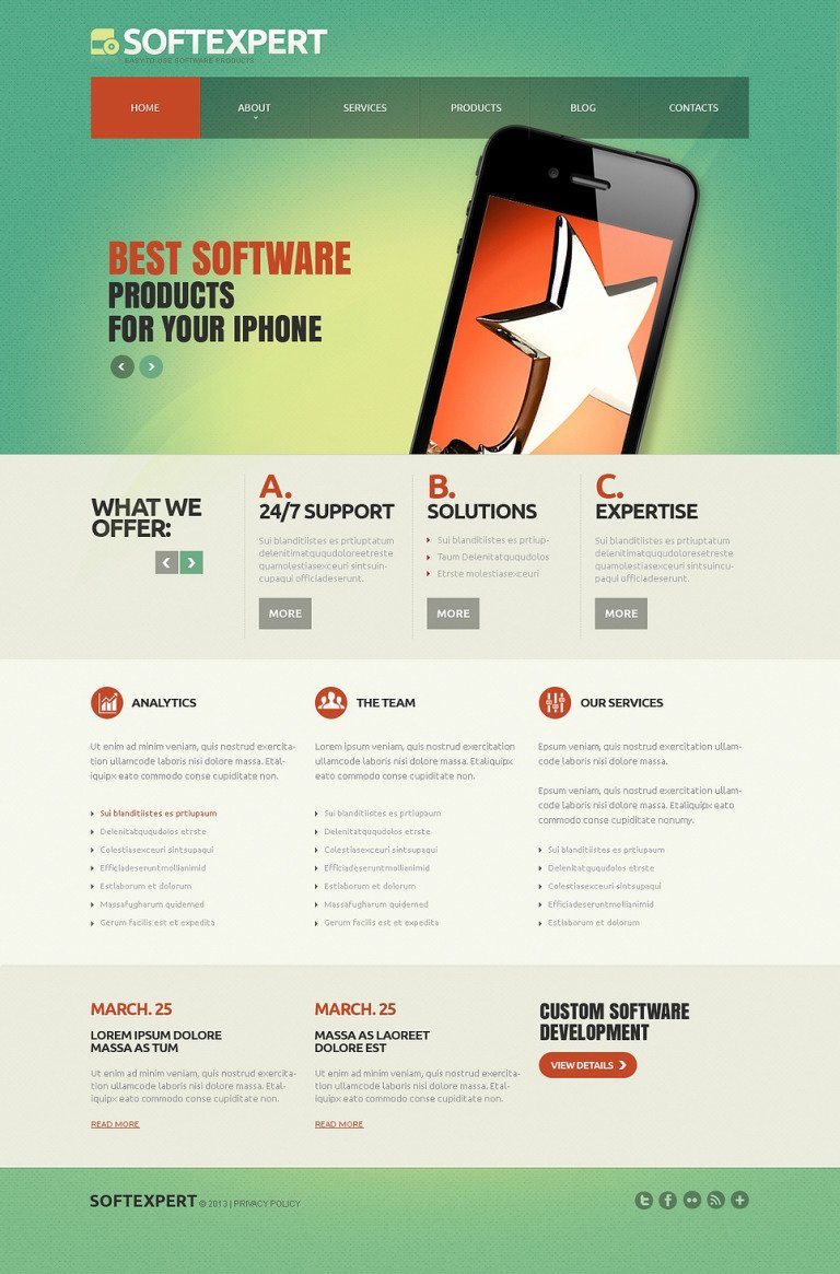 Software Company Responsive Joomla Template New Screenshots BIG