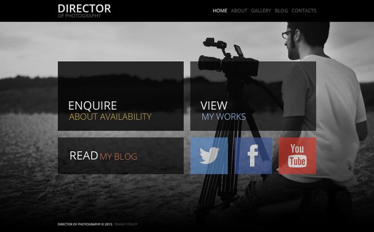 Tema de WordPress #47223 para Sitio de Portafolios de fotógrafos