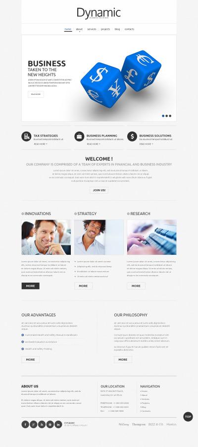 Management Company Responsive Template Siti Web