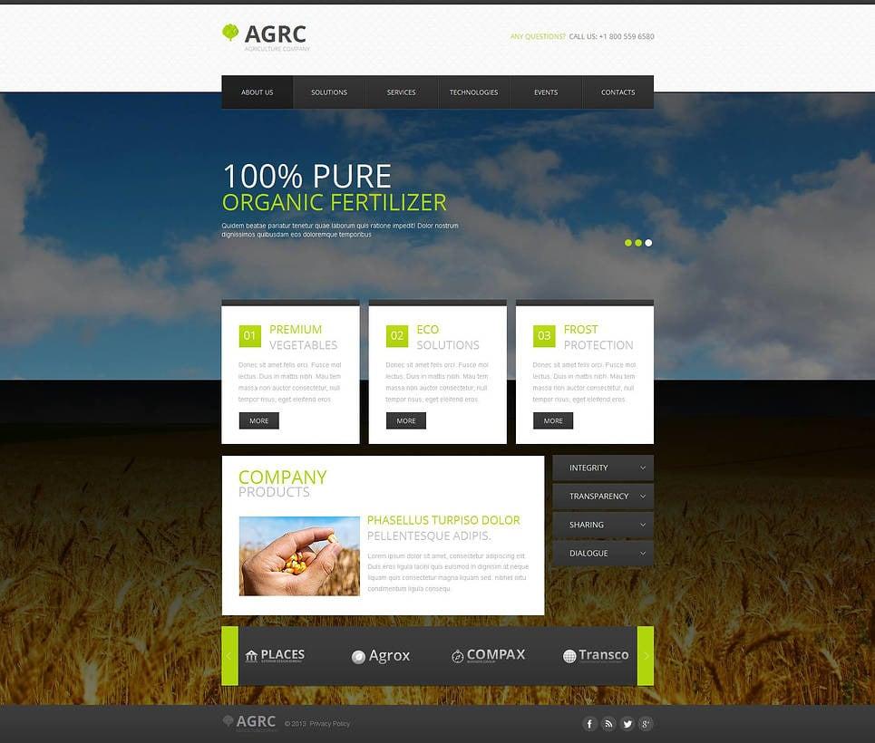 Vegetable Moto CMS HTML Template New Screenshots BIG