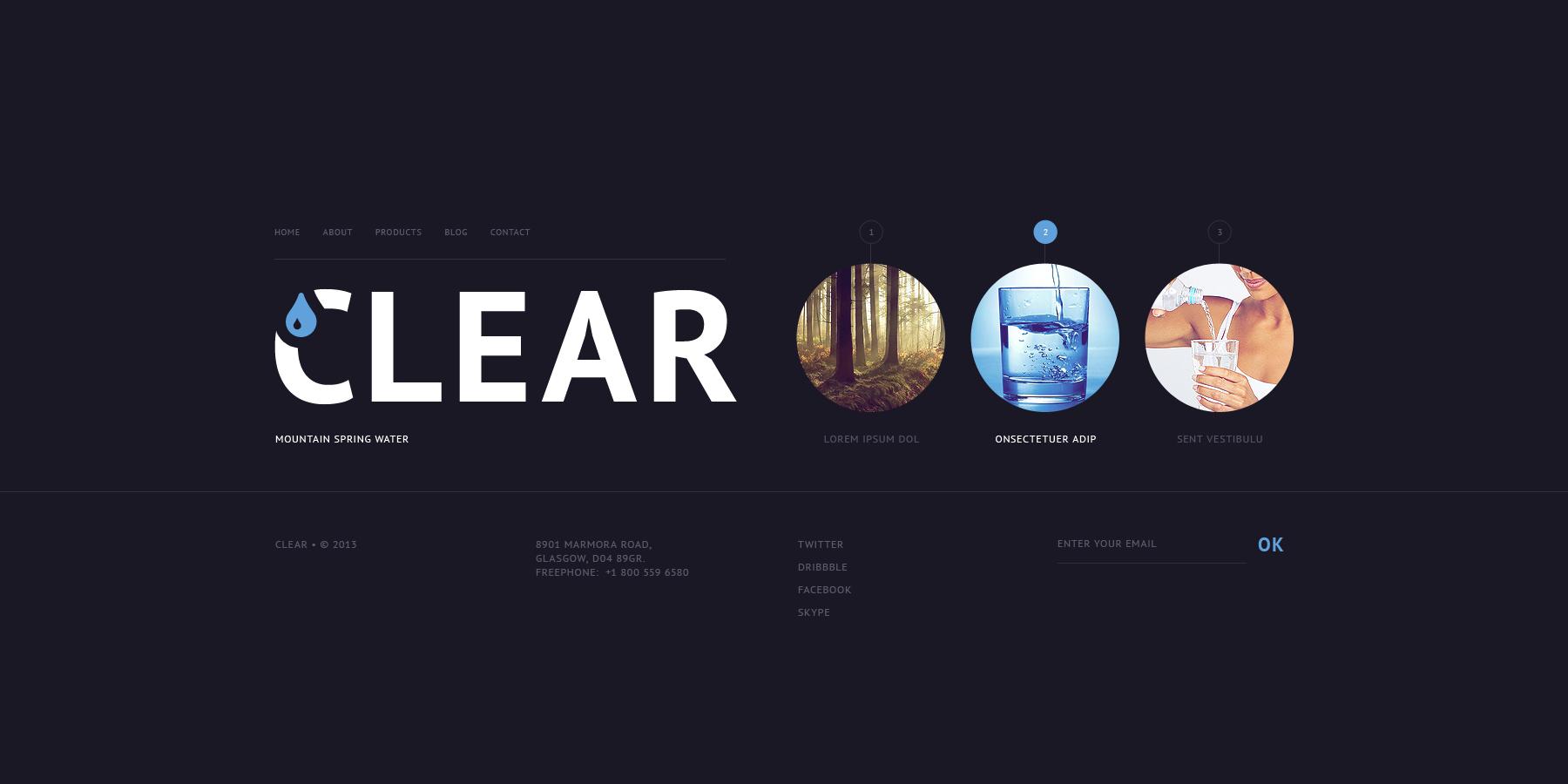 Water Website Template - screenshot