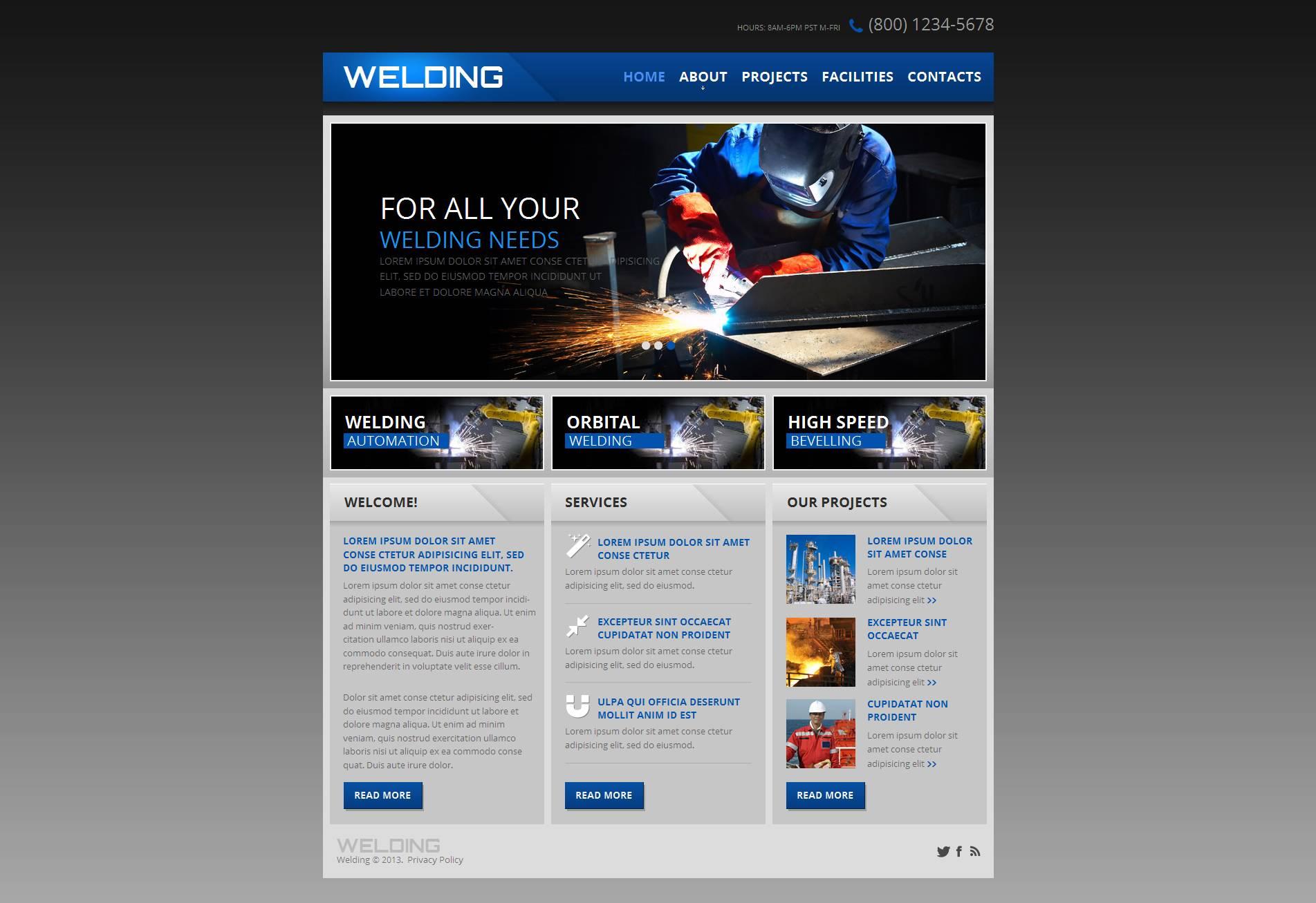welding moto cms html template 47216