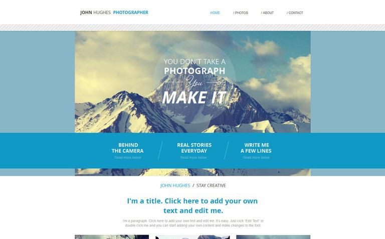 Wix Website Vorlage 47288 Für Fotografen Portfolio