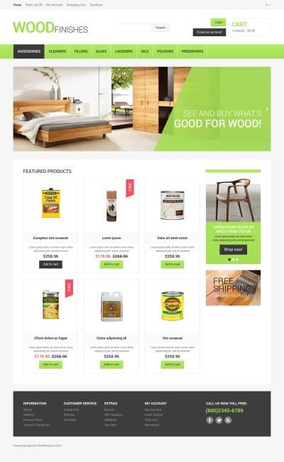 Thème OpenCart  pour site de revêtements de sol