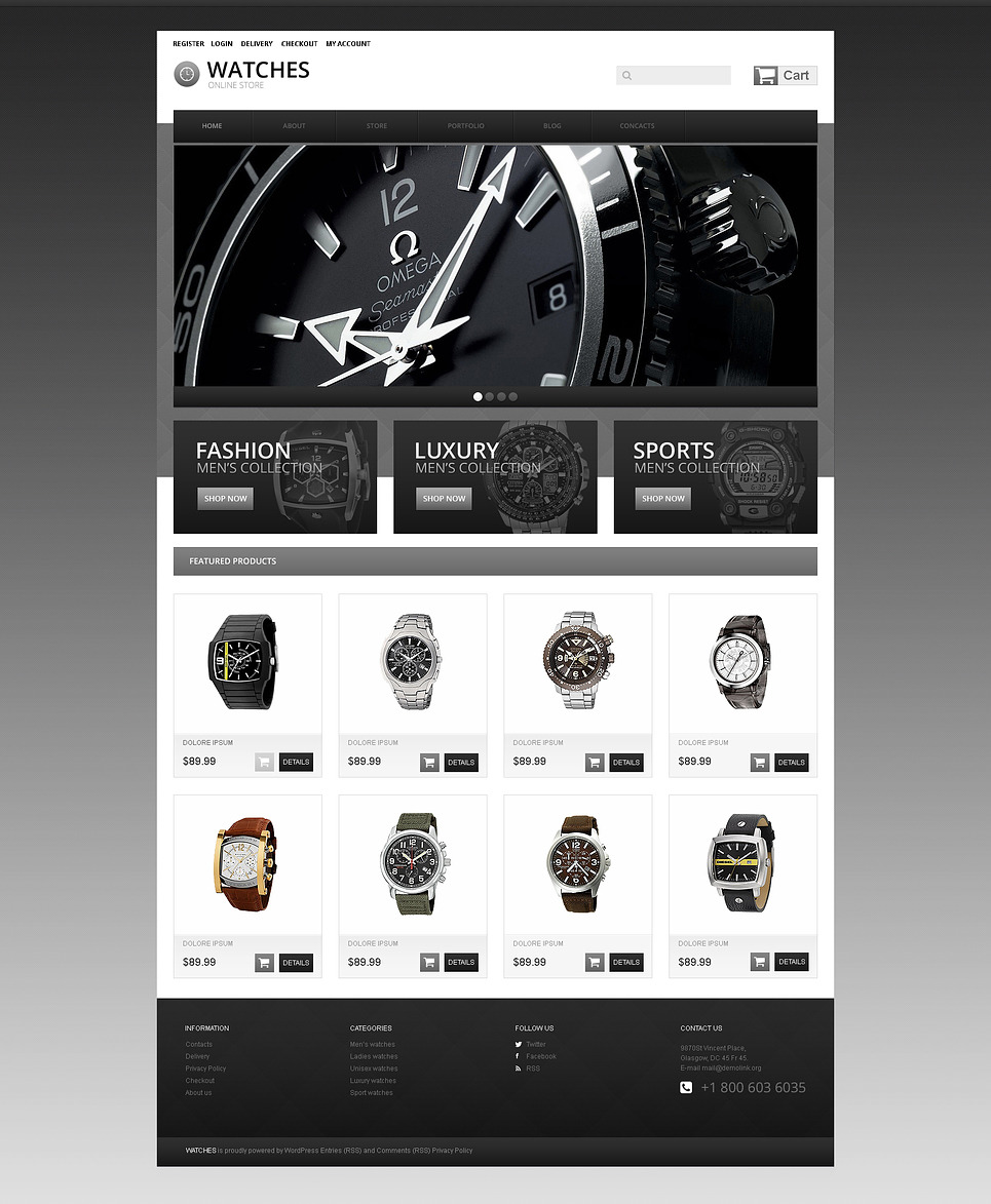 Wrist Watches WooCommerce Theme New Screenshots BIG