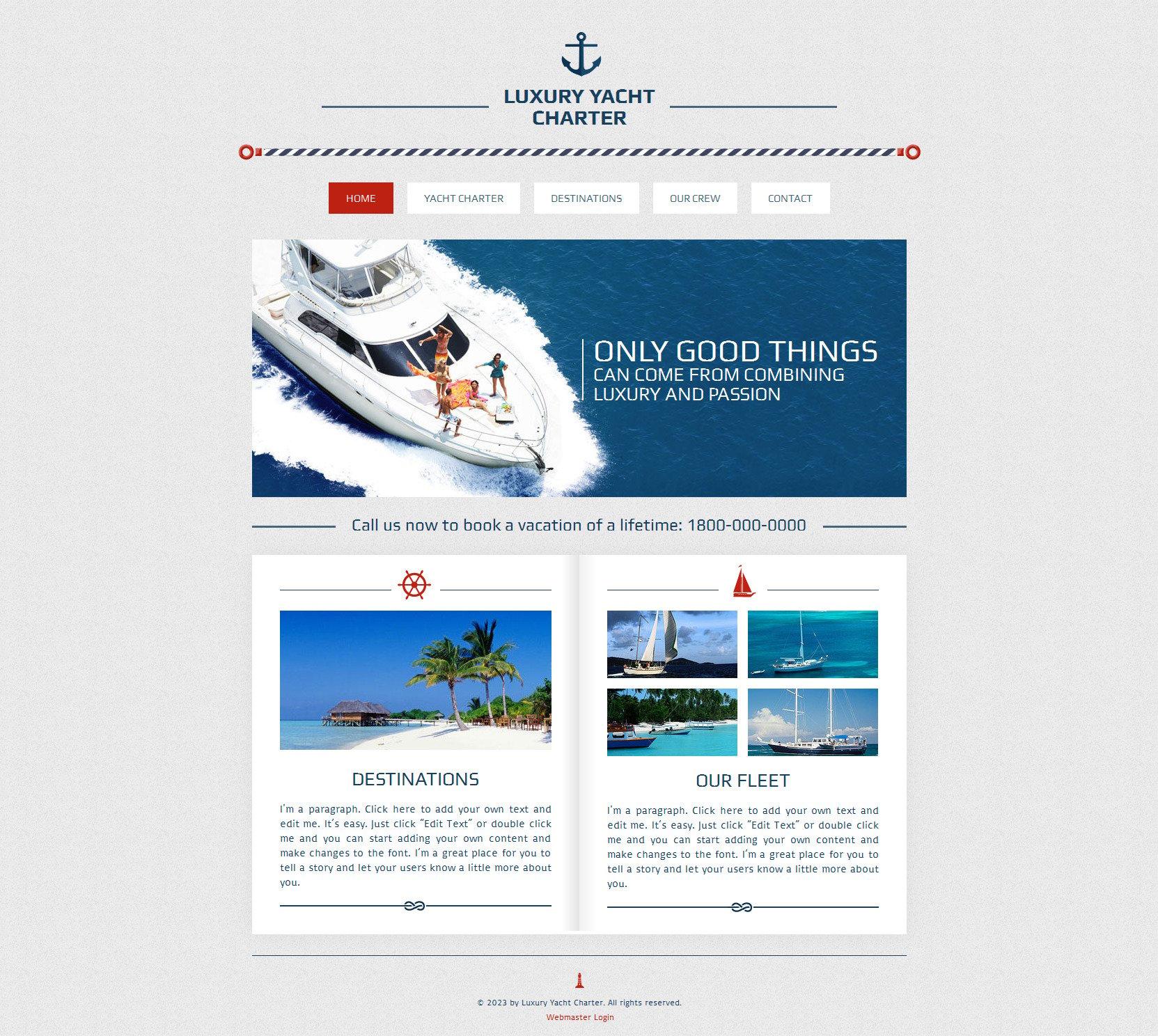 yachting wix website template 47285. Black Bedroom Furniture Sets. Home Design Ideas