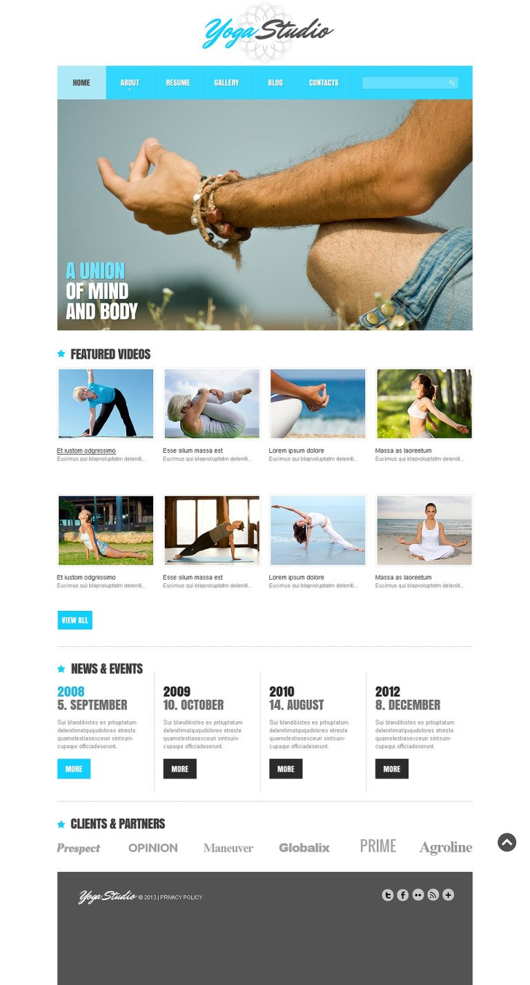 Yoga Responsive Joomla Template New Screenshots BIG