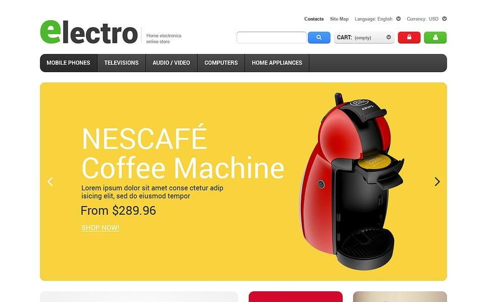 Reszponzív Elektronikai üzletek PrestaShop sablon New Screenshots BIG