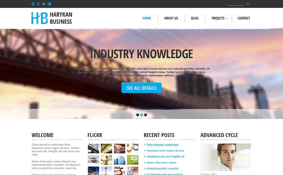 Responzivní Šablona webových stránek na téma Obchodnické Služby New Screenshots BIG
