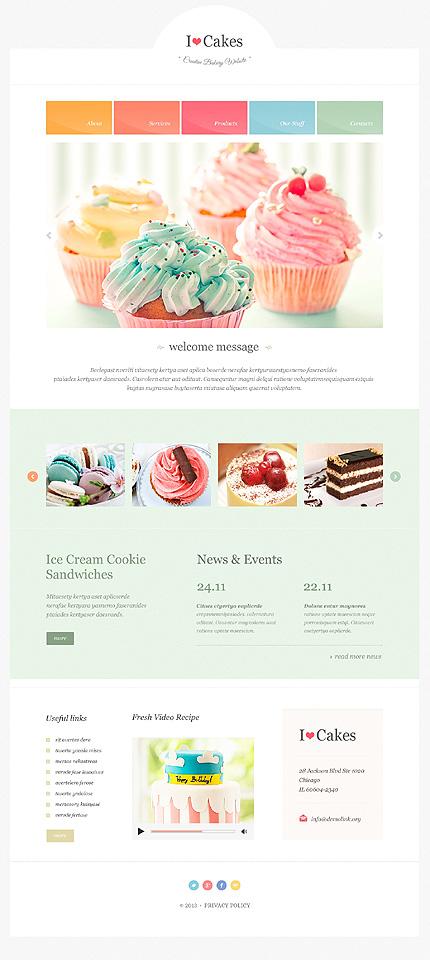 food drink website template 47310. Black Bedroom Furniture Sets. Home Design Ideas