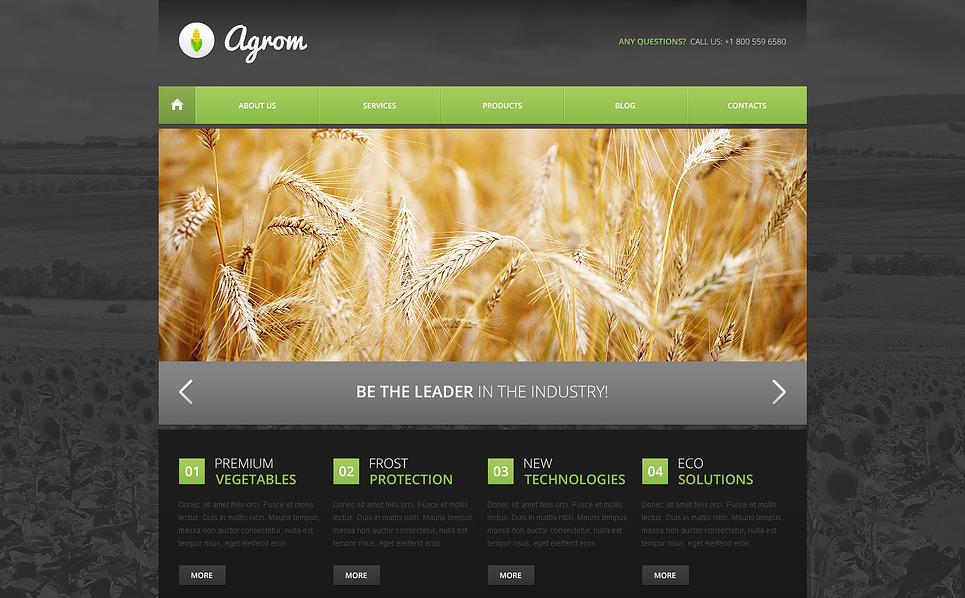 Tarım  Drupal Şablonu New Screenshots BIG