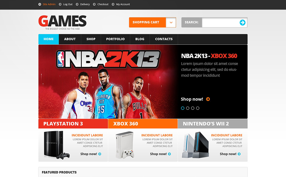 Responsywny motyw WooCommerce #47315 na temat: gry New Screenshots BIG