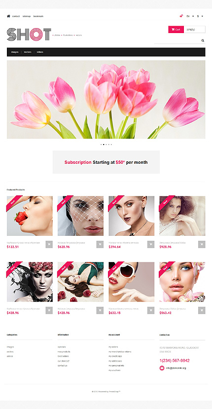 ADOBE Photoshop Template 47317 Home Page Screenshot