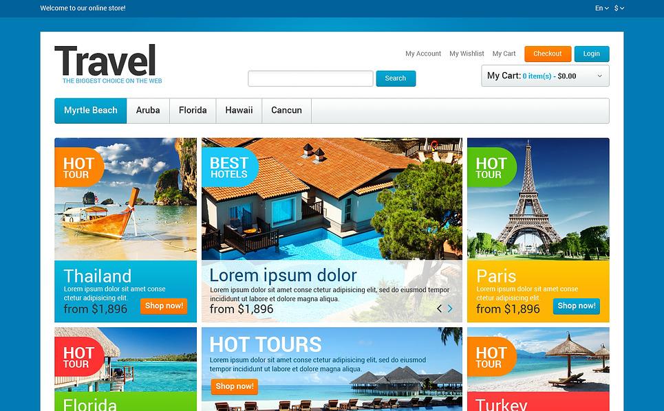 Reszponzív Utazási irodák Magento sablon New Screenshots BIG