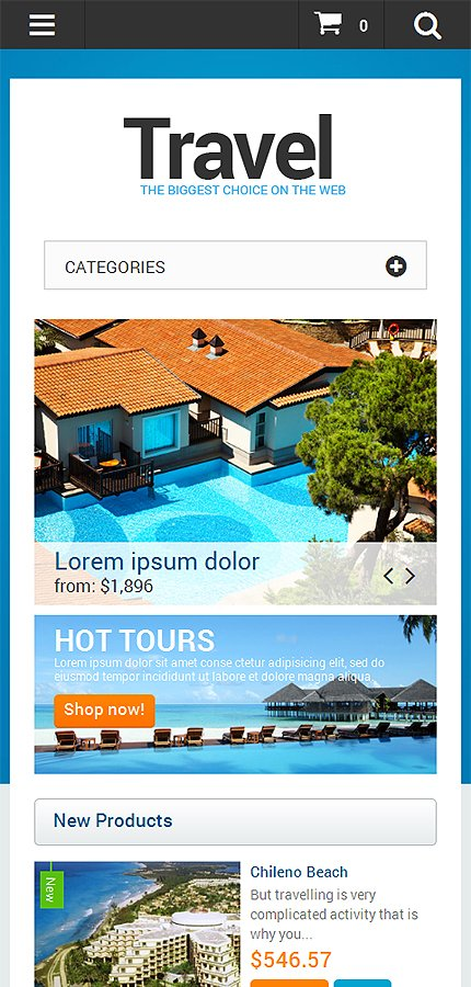 Magento Theme/Template 47319 Main Page Screenshot
