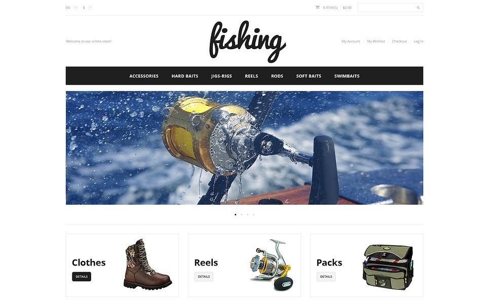 Responsywny szablon Magento #47320 na temat: wędkarstwo New Screenshots BIG