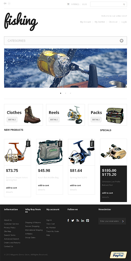 Magento Theme/Template 47320 Main Page Screenshot