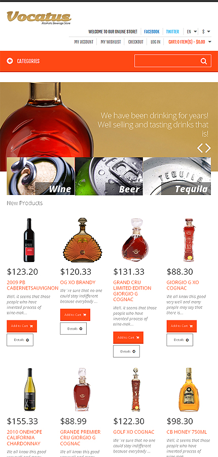 Magento Theme/Template 47326 Main Page Screenshot
