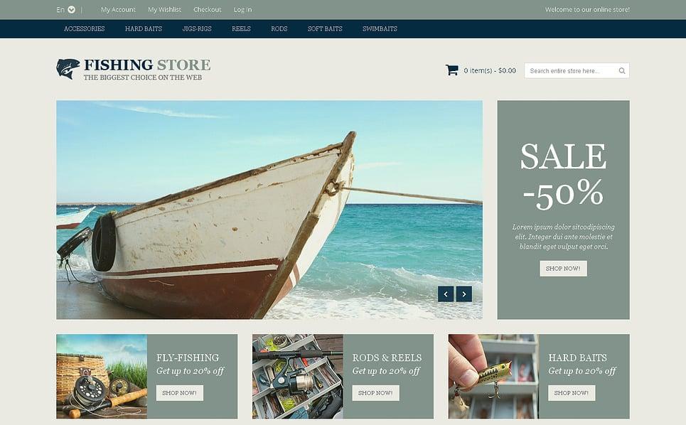 Tema Magento Responsive para Sitio de Pesca New Screenshots BIG